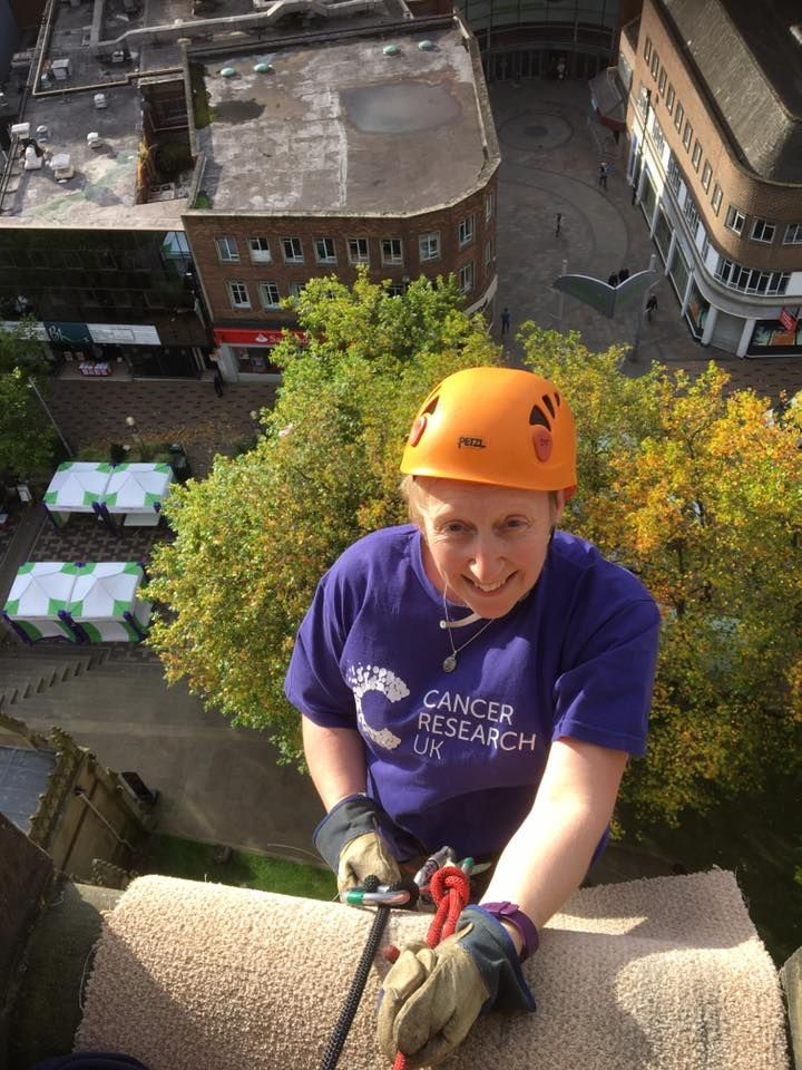 Wakefield Cathedral Cancer Research Abseil event